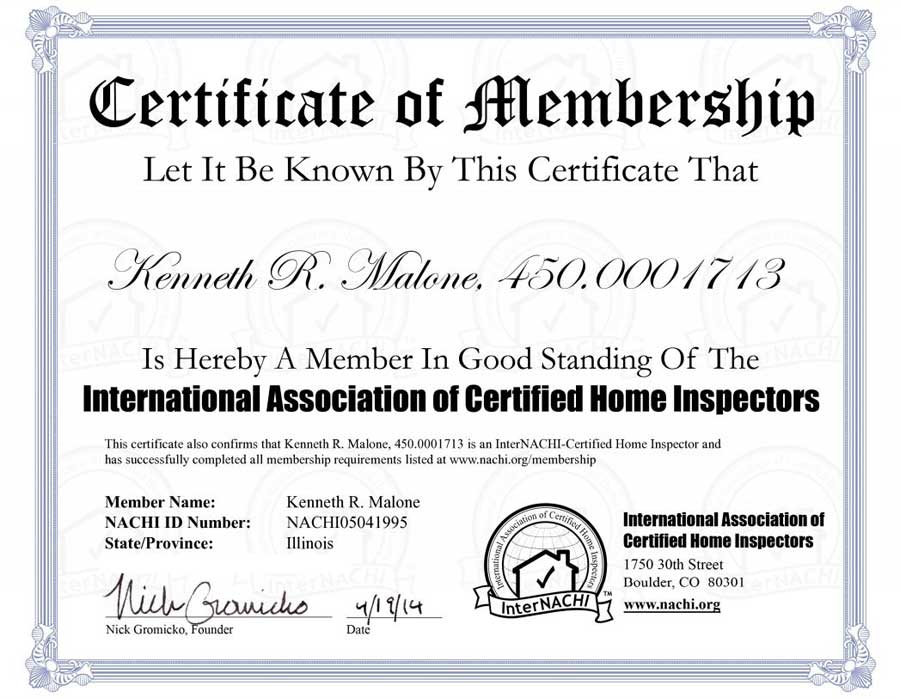 All-Home Inspection License